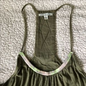 American Eagle Outfitters Tops - AE Sexy High Neck Aztec Beaded Spaghetti Strap Top
